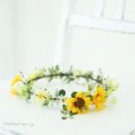 ひまわりの花冠