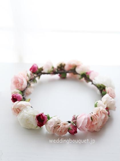 花冠  ホワイトピンクラナンキュラス