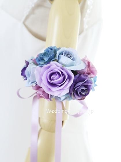 紫バラのアームレット