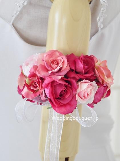 ローズピンクバラのアームレット
