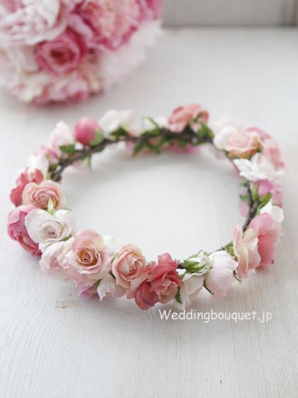 花冠  かわいいふんわりピンクのバラたくさん